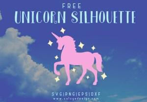 Unicorn Silhouette Free SVG
