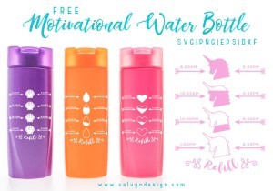 motivational water bottle free SVG