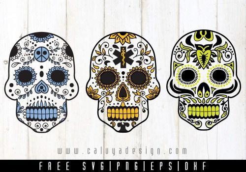 Sugar Skull Medic Free SVG