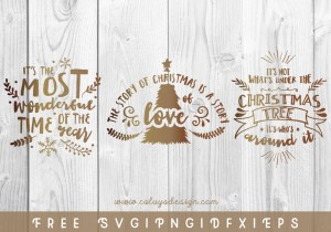 Christmas Holiday Quote FREE SVG