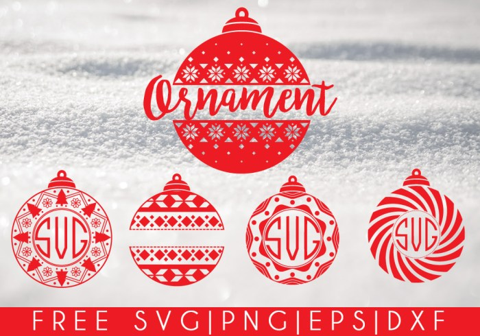 Christmas Ornaments Free SVG