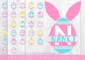 Free Easter Egg Monogram SVG