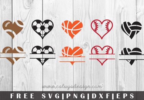 Sport Hearts Free SVG