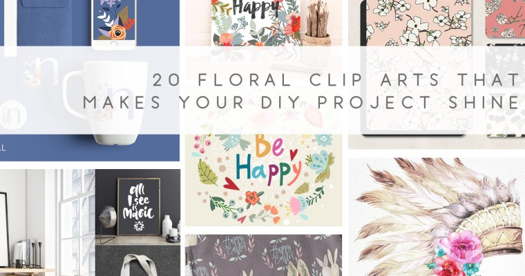 25 Spring Floral Digital Arts That Makes Your DIY Projects Shine!