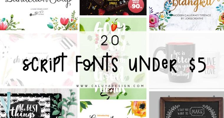 20 Script Fonts Under $5
