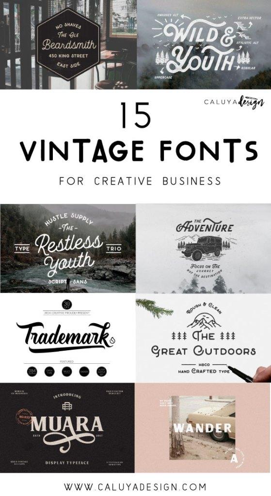 15 vintage fonts for creative business