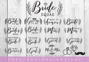 Free Wedding SVG Cut file bundle