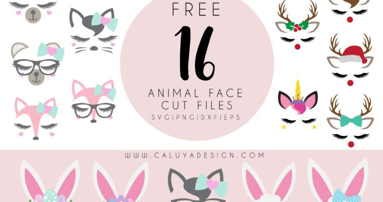 16 Free Animal Face SVG Cut Files You Must Download
