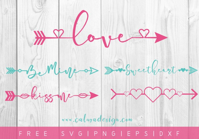 free valentine arrows svg - Free Valentine