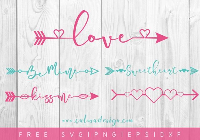 FREE Valentine Arrows SVG