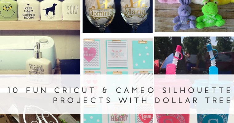 10 Fun Cricut & Cameo Silhouette Projects with Dollar Tree Products