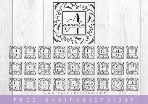 FREE FLORAL MONOGRAM SVG