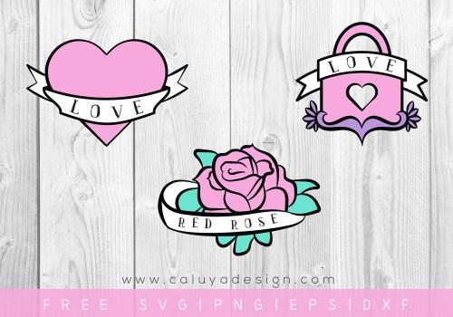 Free heart tattoo SVG