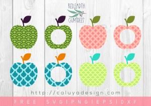 FREE Apple Monogram SVG