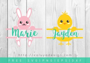 Free Easter Monogram SVG