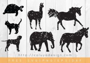 Free Vintage Animal Shadows SVG