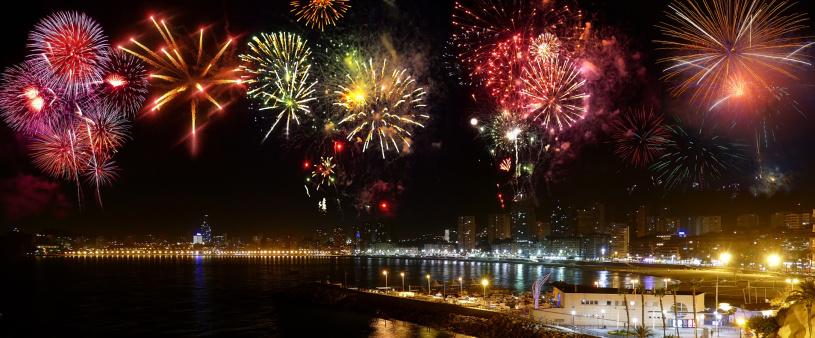 Feuerwerk Benidorm, Costa Blanca,Spanien