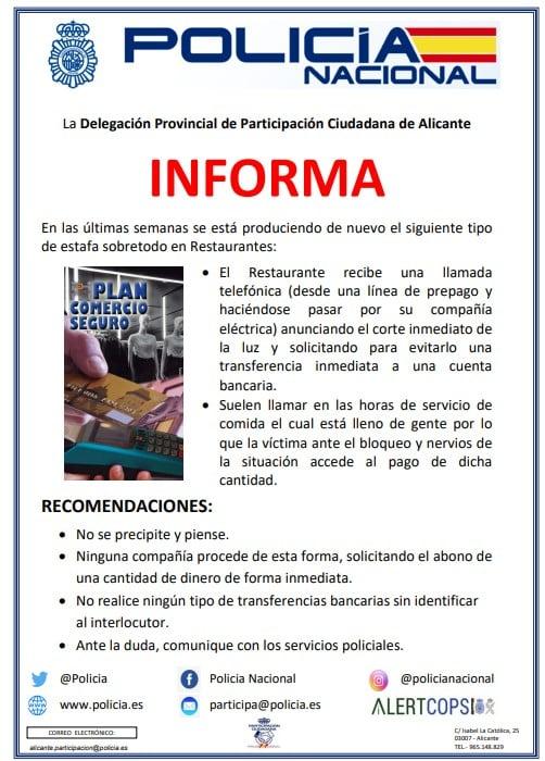 Policía Nacional informa