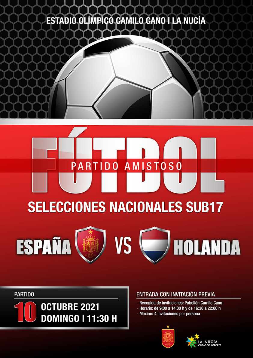 Partido amistoso España vs Holanda sub 17 La Nucía