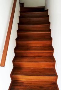 Timber staircase Singapore | Stair handrails, treads ...