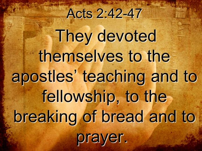 Acts 2:42 Calvary Catonsville Church