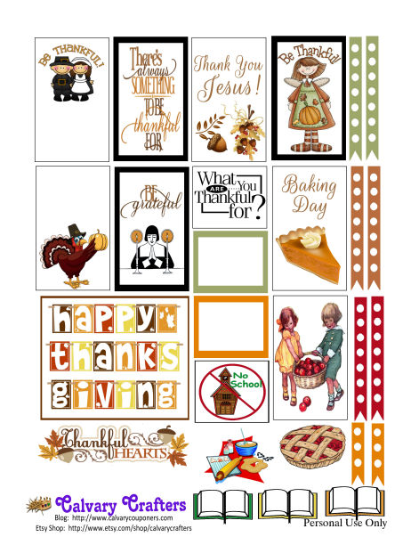 Country thanksgiving planner printables 2
