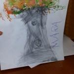 Preschool art: Textured tree by Pre-K Student