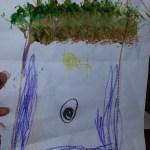 Preschool art: Textured tree by Preschool Student