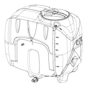 dessin de bac polyéthylène de cuve de désherbage