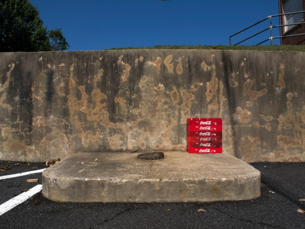 Red Coke Boxes, Behind Suburban Plaza