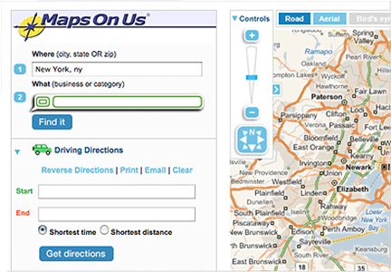 Maps On Us website