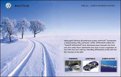 Volkswagon 4motion website