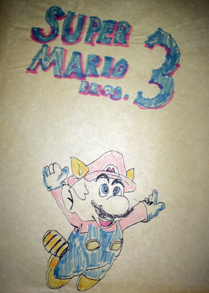 Super Mario 3 Drawing by Calvin Gilbert