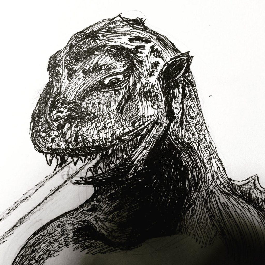 Godzilla-Pen-Calvin-Gilbert