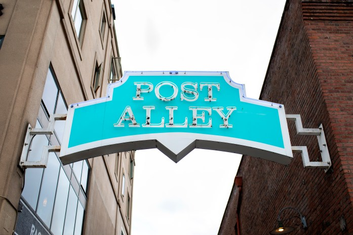 seattle post alley sign at pike place