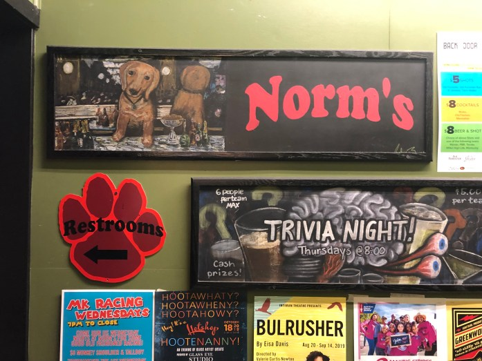 dog signs at norms eatery in seattle