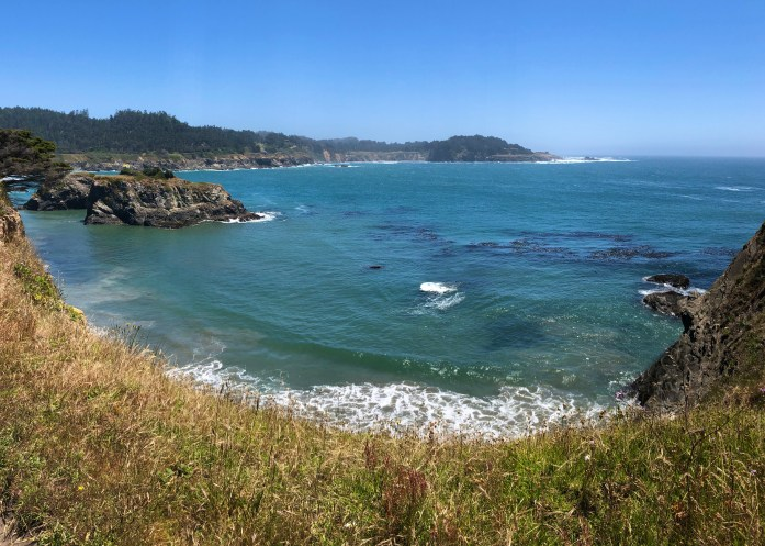 pacific ocean from mendocino headlands trail
