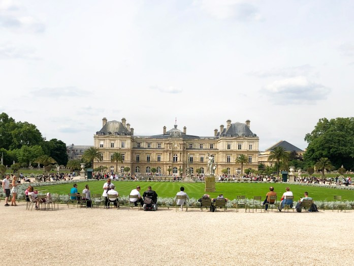 palace at the dog friendly luxembourg gardens