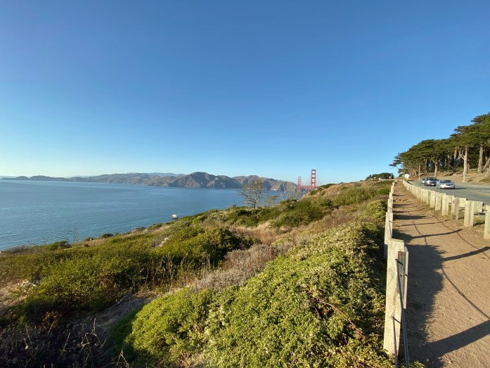 dog friendly california coastal trail hike to golden gate lookout