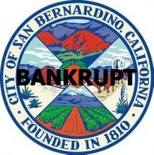 San Bernardino city seaL BANKRUPT