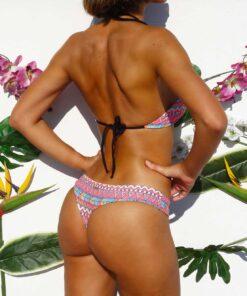 bikini cola less estampada etnico