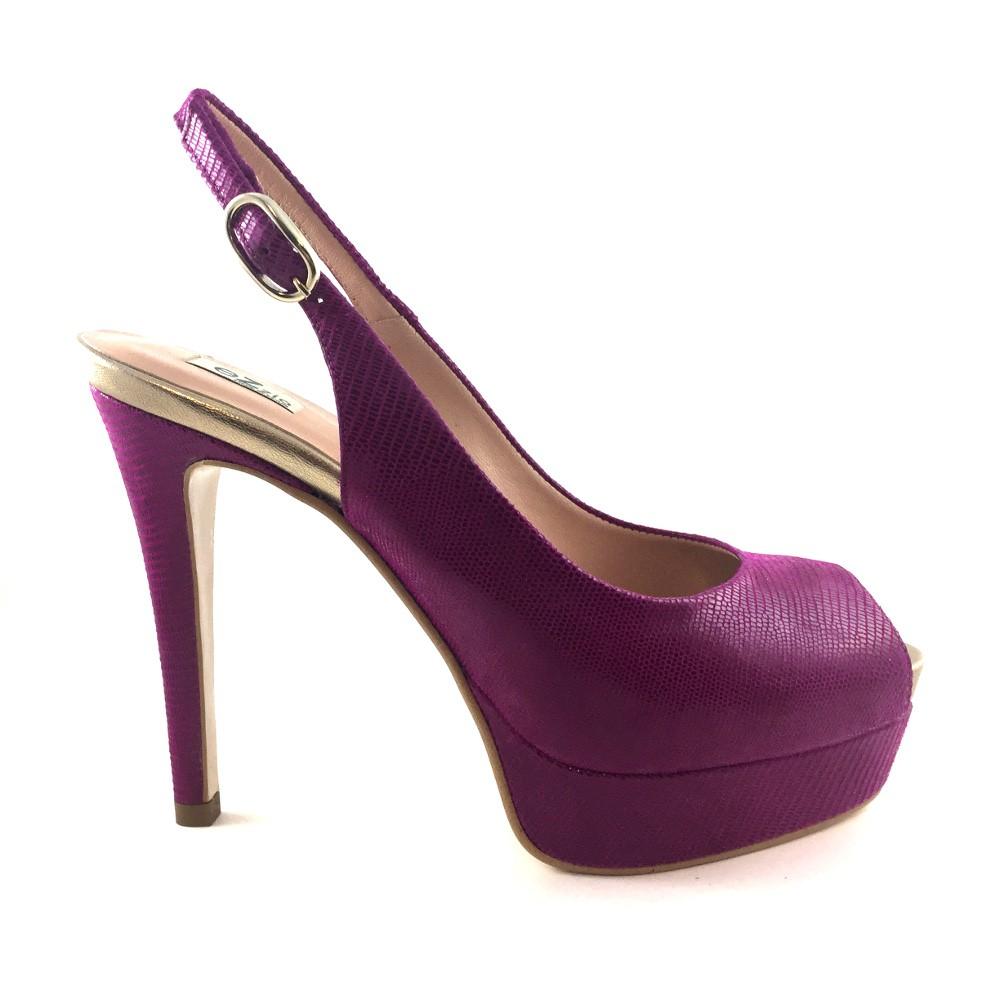 dfabe142 Color Medio De Tacón Salon Ante Zapatos Buganvilla 5qw8pIx4
