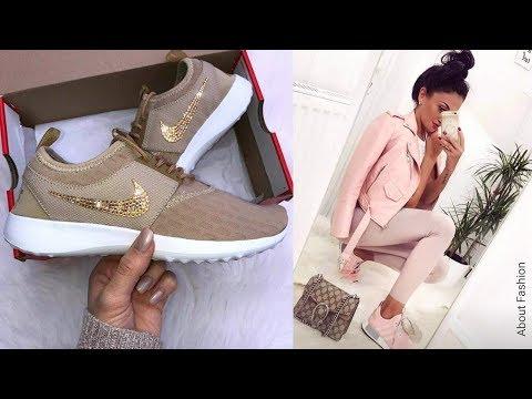 Lo último en Moda de Zapatillas Sneakers de Mujer | Tendencias 2020 + OUTFITS deportivos con tenis