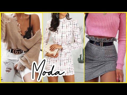 MODA 2020 OUTFITS Y LOOKS DE MODA PARA OTOÑO INVIERNO 2019/2020 CON JEANS, FALDAS, SUÉTER Y BOTAS