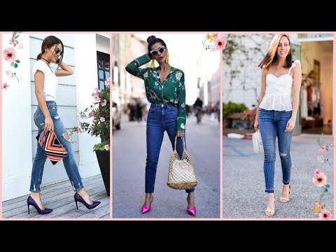 Outfits con jeans de moda de mujer 2019 2020