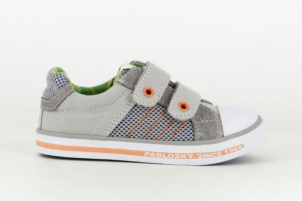 Zapatilla Lona gris 962251 Pablosky lado