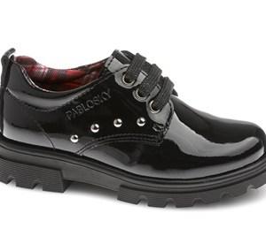 Zapato colegial charol negro 341619 Pablosky