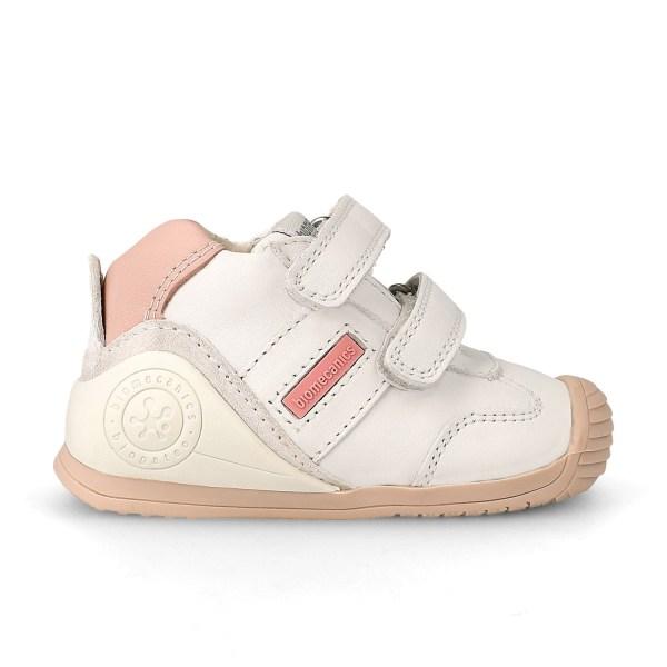 Deportivo Biomecanics para bebé Lia blanco-rosa lado