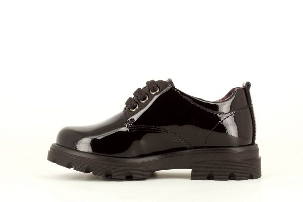 Zapato colegial charol negro 341619 Pablosky interior