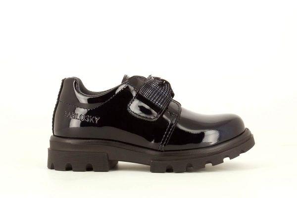 Zapato colegial charol marino 342429 Pablosky lado
